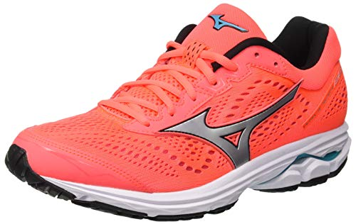 the latest 3eac0 44617 Mizuno WAVE RIDER 22, Scarpe da Corsa Donna, Multicolore (Fiery Coral Silver