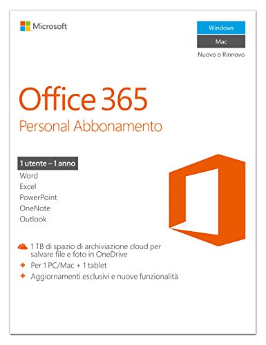 Produktbild Microsoft Office 365 Personal 32-bit / x64 Subscript. 1 L