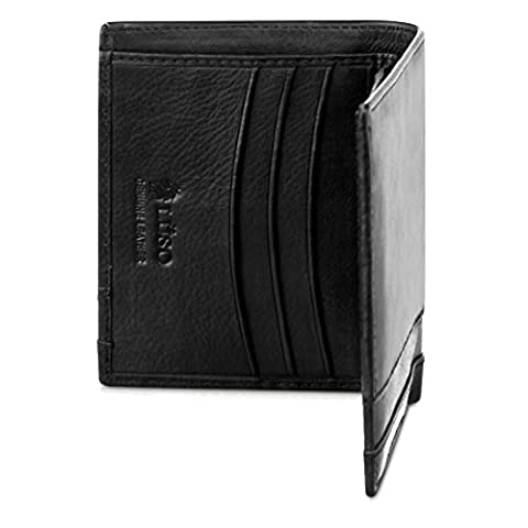 TOP CHOICE GIFT-BOXED Men's Compact Designer Wallet   Best Small Wallet   Perfect Leather Credit Card Holder   Very Smart Wallet by Men's Wallets Designer Lüso of