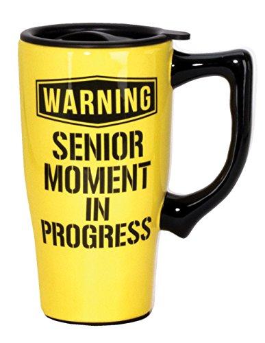 Spoontiques Senior Moment Tasse de voyage, jaune