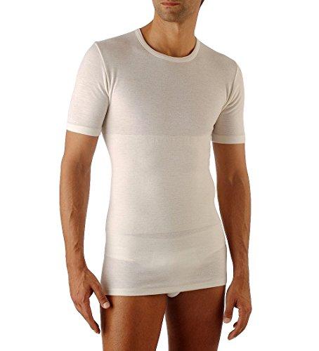 Relaxsan Ortopedica 1200 (Bianco, Tg.3) T-Shirt Maglia Termica Uomo Lana Cotone con Fascia Contenitiva Lombare