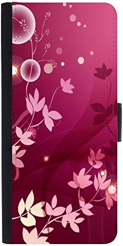 Snoogg Flower Pink Graphic Designer Protective Phone Flip Case Cover For Panasonic P55 Novo