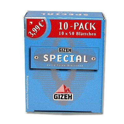 GIZEH - Papel de liar (10 paquetes, 50 papelinas por paquete)