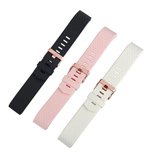 Für Fitbit Charge 2 Zubehör Armband, Wearlizer Silikon Ersatz Bands Für Fitbit Charge 2 Special Edition Lavendel Rose Gold
