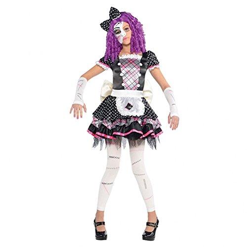 Mädchen beschädigt Puppe Kostüm Teen Kind & ohne Fuß, Fancy Kleid (Puppe Dress Up Kostüm)