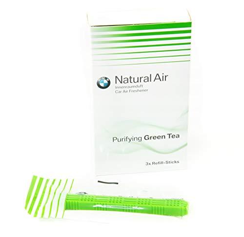 BMW Kit de Recharges Pour Désodorisant de Voiture Natural Air Authentique Parfum Thé Vert, 83122285674