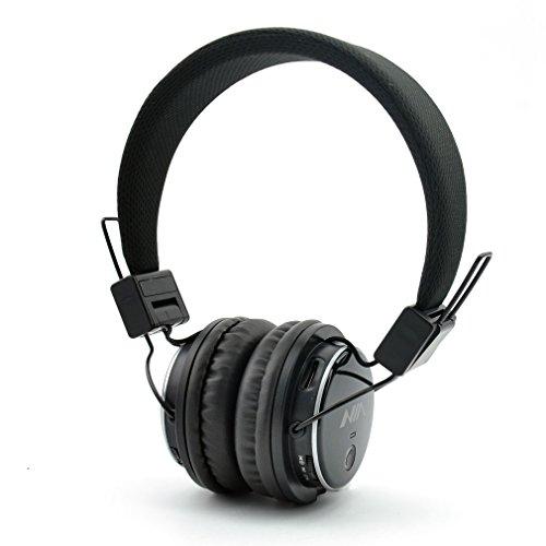 Foto GranVela® Q8 [11 colori] Bluetooth Stereo Pieghevole On Ear Cuffie con Micro SD (TF) Giocatore di Musica e FM Radio Supporta jack da 3,5 mm Nuovo Moda Progettato Cuffie - nero