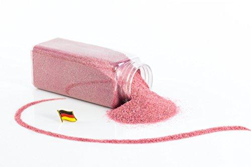 Arena de color / Arena decorativa TIMON, rosa brillante, 0,1 - 0,5 mm, 605 ml bote, Producido en Alemania - Tierra artificial - monsterkatz