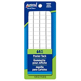 ArtSkills Poster Tack, 4.09 ounces, 2 pack, Also Includes 16 Free Foam Mounting Squares (PA-1231) by ArtSkills