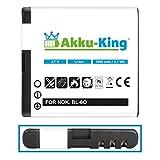 Akku-King Li-Ion batteria per Nokia 6700 classic, Illuvial - sostituita BL-6Q - 1000mAh