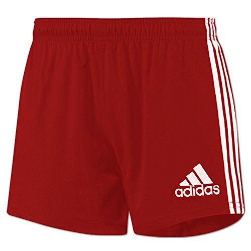 adidas Herren Climacool Short 3-Streifen Base (D8 | L, Rot) (3-streifen-rugby-shorts)