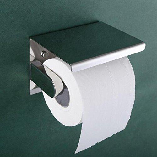 A Acier inoxydable boîtes de papier de toilette papier plane boîtes de papier toilette rouleau de serviette de papier (133 * 100mm)