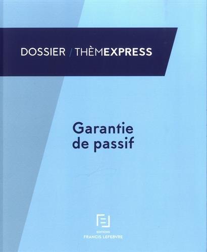 Garantie de passif