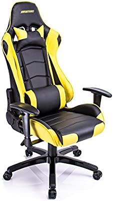 aminitrue espalda alta ajustable Gaming Racing silla silla de oficina