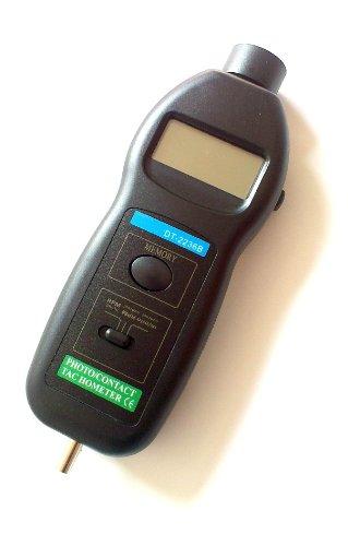 Simpo Pixtic DT2236B - Tacómetro digital óptico (láser y de contacto)