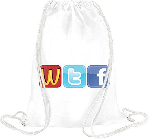 Logo Fun WTF McDonalds Twitter Facecbook Drawstring bag