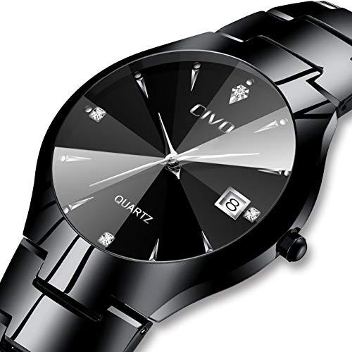 Herren Uhr Männer Wasserdicht Minimalism Schwarz Edelstahl Mesh Armbanduhr Mann Sport Luxus Modisch Design Ultra Dünne Einfach Analog Uhren - Ultra-dünnen Design