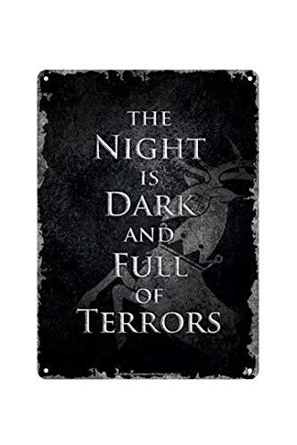 Game Of Thrones - Chapa Metalica Night IS Dark (E1048151)