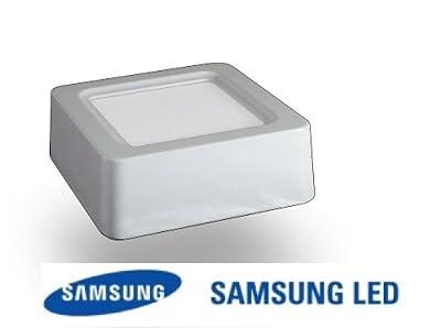 8w Led Aufbaupanel Quadrat Samsung Chip 3000k Warmwei 115x115x43mm Deckenlampe von Akshopping