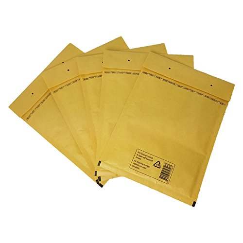 Verpacking 100 Luftpolstertaschen Versandtaschen Luftpolsterumschläge D/4, Innenmaß: 180 x 265mm, Braun (Tasche Gepolsterte Braun)