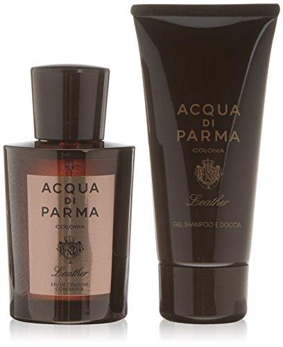 Acqua di Parma Leather  set a 2 pezzi  Acqua di Profumo 100 ml,Gel Doccia e shampoo 75 ml