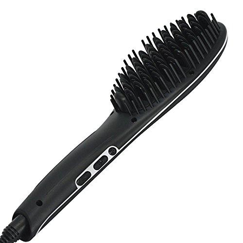Sutra Heat Brush 2.0–Cepillo eléctrico alisador para el pelo–Color Negro