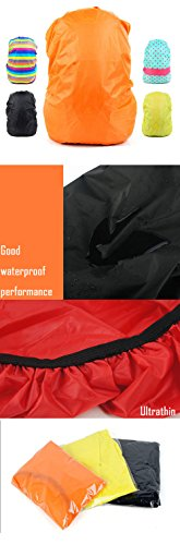 Set of 2 [RED] Camping/Hiking Ultrathin Water-proof Backpack Rain Cover,45-55L