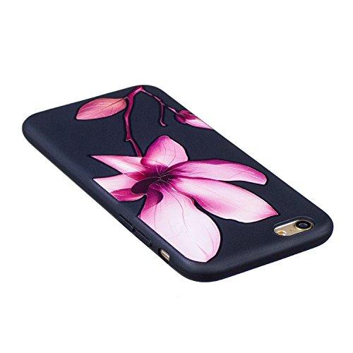 Coque iPhone 5S Silicone, LuckyW Housse Etui TPU Silicone Clear Clair Transparente Gel Slim Case pour Apple iPhone 5 5S SE Soft de Protection Cas Bumper Cover Converture Anti Poussières Couvercle Anti Fleur