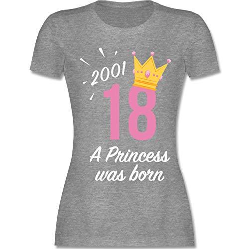 Geburtstag - 18 Geburtstag Mädchen Princess 2001 - XXL - Grau meliert - L191 - Damen Tshirt und Frauen T-Shirt - Run Fun Shirt
