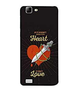 VIVo Y27, VIVo Y27L Back Cover If It Is Doesn'T Break Your Heart Its Not Love Design From FUSON