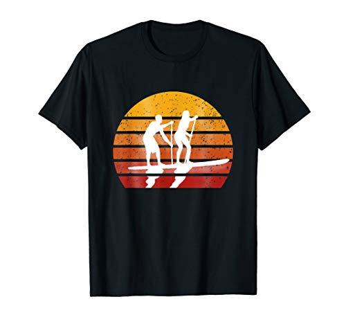 Tandem Stand Up Paddeling Surfen Vintage Look T-Shirt