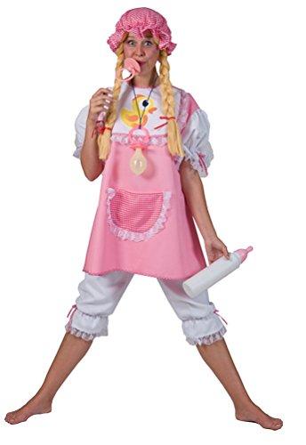 Karneval-Klamotten Baby Kostüm Erwachsene Damen-Kostüm rosa-weiß Karneval Fasching Größe 44/46
