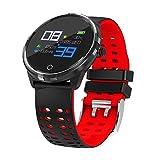 Lizes Elegante Design T3Smart Band Impermeabile frequenza cardiaca Pressione sanguigna modalità Sport Intelligente Bracciale Sonno Fitness Tracker Wristband Watch (Rosso) Bluetooth Orologio LED