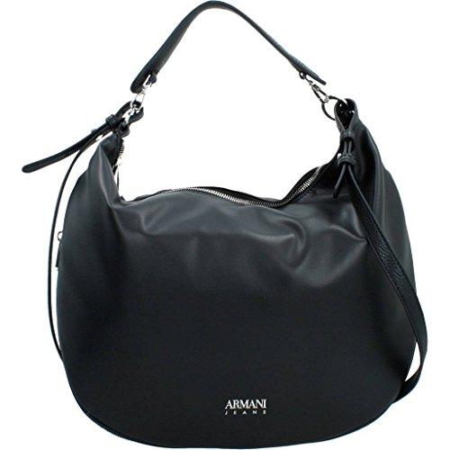 Armani Jeans Oversized Oval Shoulder Bag One Size BLACK