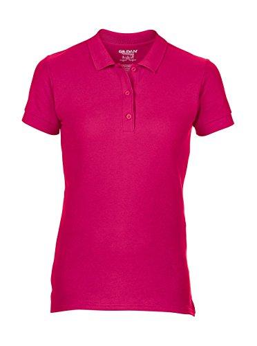 Gildan: Premium Cotton Ladies` Double Piqué Polo 85800L, Größe:2XL;Farbe:Heliconia (Pique Womens Premium Polo)