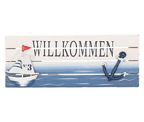 Tony Brown maritimes Schild Willkommen | Türschild | Wandschild | Ostsee | Nordsee