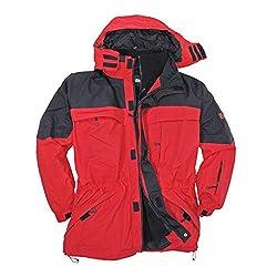 Marc&Mark Rote 3in1 Jacke I Winterjacke Herren I Kleidung Herren I Herrenjacke I Übergangsjacke I Outdoorjacke I Regenjacke in Übergröße bis 10 XL, Größe:3XL
