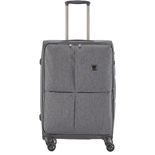 "TITAN Valise trolley ""Square"" avec 4 roues anthracite Koffer, 68 cm, 87 liters, Schwarz (Anthracite) Schwarz (Anthracite)"