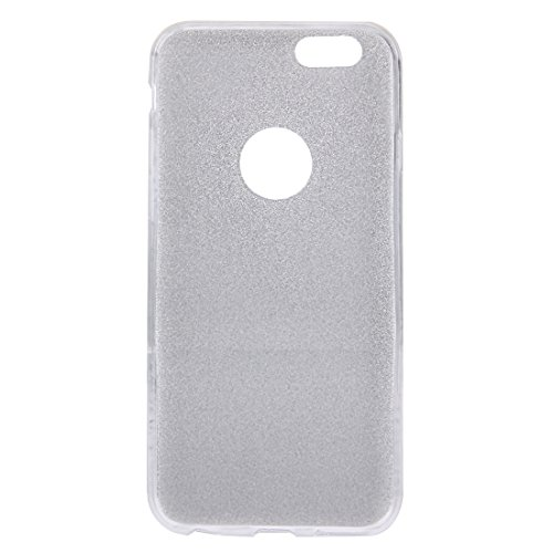 BING Für iPhone 6 Plus / 6s Plus, Glitter Powder Soft TPU Schutzhülle BING ( Color : Gold ) Silver