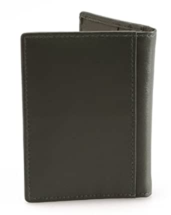 1642 Leather Credit Card Holder Style 5017_17 (One size, Racing Green)
