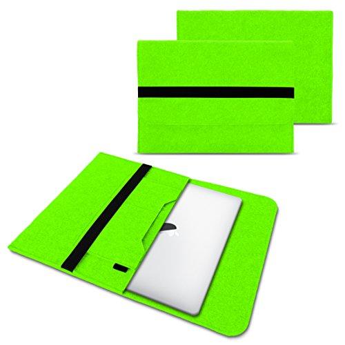 NAUC Laptop Tasche Sleeve Hülle Schutztasche Filz Cover für Tablets & Notebooks Farbauswahl kompatibel für Samsung Apple Asus Medion Lenovo, Farben:Grün, Größe:12.5-13.3 Zoll