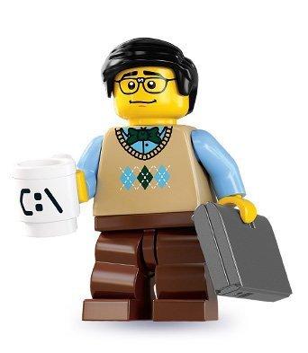 LEGO 8831 - Minifigur Computer Programmierer aus Sammelfiguren-Serie 7 (Lego Laptop)