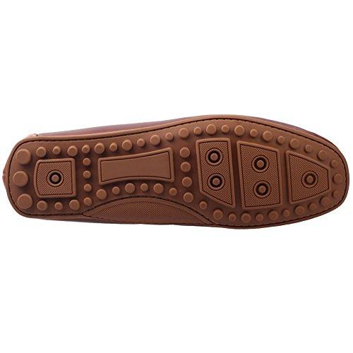 Unze De Giovini ' slipons Mocassins en cuir Chaussures Hommes Brun