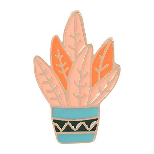JTXZD Brosche Mode Cartoon Kaktus Broschen Nette Mini Blumentopf Emaille Männer Frauen Denim Jacken Hut Abzeichen Kind Zubehör Anstecknadeln