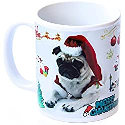 Feliz Navidad diseño de CARLINO color blanco taza de cerámica