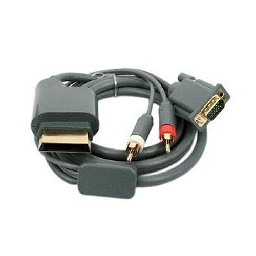 Dcolor Cable de Audio Componente VGA & 2RCA para Xbox 360