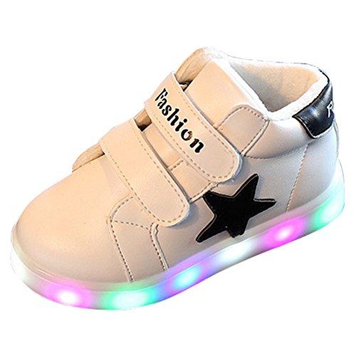 Eastlion Cool LED Kinder leuchten Schuhe Sport Casual Schuhe Weiß