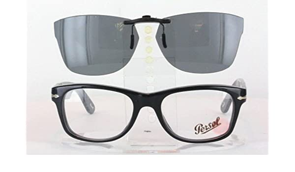 0f21e93587 PERSOL 2975-V-53X18 POLARIZED CLIP-ON SUNGLASSES (Frame NOT Included)   Amazon.co.uk  Health   Personal Care