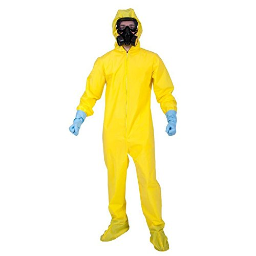Hazmat Suit w/mask & gloves Fancy Dress Disease Alert Stag - Breaking Bad Kostüm Party