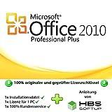 MS Office 2010 Professional Plus 32 bit & 64 bit Vollversion Multilingual - Original Lizenzschlüssel per Post und E-Mail + Anleitung von HBS SOFTUP® - Versand max. 60Min -